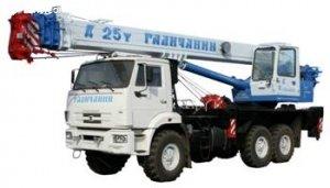 Автокран ГАЛИЧАНИН на шасси МАЗ-6312